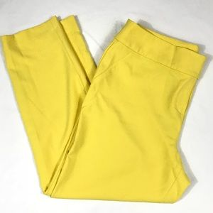 Black Label by Chico's Ankle Yellow Pant